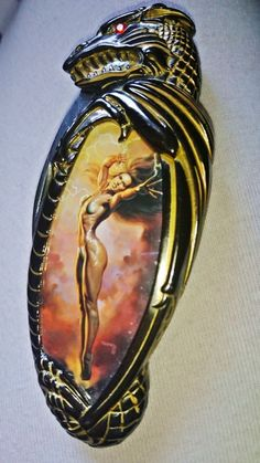Knightstone Fantasy folding knife desire by Boris Vallejo 1998 #FranklinMint