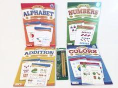 Ready for School Kindergarten Preschool Readiness Preparation Bundle Five Items: One Alphabet Workbook, One Numbers Workbook, One Addition Workbook, One Colors Workbook, One 2pk Ticonderoga Beginner Pencils Bendon Learning products http://www.amazon.com/dp/B011MKY4I0/ref=cm_sw_r_pi_dp_zEAPvb0JBPD5E