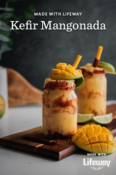 This frozen mangonada is fruity, tart, a touch salty, and gets a probiotic boost when made with our kefir, so make one today and enjoy the warm weather while you still can! Healthy Food Choices, Healthy Recipes, Tamarind Candy, Mexican Street Food, Prebiotics And Probiotics, Farmers Cheese, Probiotic Foods, Protein Pack, Kefir