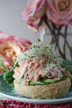 PaleOMG Open Faced Smoked Salmon Salad Sandwiches