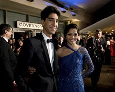 Dev Patel and Freida Pinto pose outside the Governor's Ball with the Oscar® at the Annual Academy Awards® from the Kodak Theatre in Hollywood, CA Sunday, February Dev Patel, Freida Pinto, Academy Awards, In Hollywood, Picture Photo, Good Movies, Movies And Tv Shows, Movie Tv