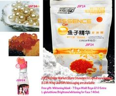 3 Packs X 2in1 Face & Body Mask. Essence of Caviar Mixed Pearl Nano Whitening + Reduce Freckles + Remove Dark Spot Within 5 Minute. Pearl Powder Mask 320g. (Free Gift: Whitening Mask - 7 Days Wink! Boya Q10 Extra L- Glutathione Brightens/ Whitening for Face & Body 140ml.) by JSP24. $78.00. (Free Gift:Whitening Mask - 7 Days Wink! Boya Q10 Extra L-glutathione Brightens/whitening for Face & Body 140ml. and get other more gift offer please read on our JSP24 Online Mark...