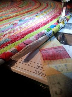 directions on how to sew a coiled fabric rug