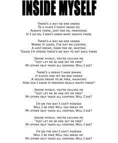 INSIDE MYSELF [Album: BLOODSUCKERS] #VAMPS #HYDE #KAZ #LYRICS #MUSIC #BLOODSUCKERS #INSIDEMYSELF