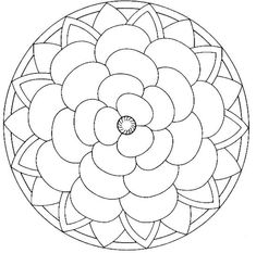 Mandalas bring relaxation and comfort to adults all over the world. Mandalas are one of our favorite things to color. Kids can color them too! We have some more simple mandalas for kids to color. Mandalas for Kids Rose Coloring Pages, Mandala Coloring Pages, Printable Coloring Pages, Adult Coloring Pages, Coloring Books, Coloring Sheets, Free Coloring, Mandalas Painting, Mandalas Drawing