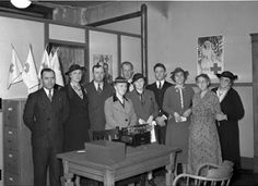 Group photo taken at Sandusky's American Red Cross headquarters in the 1930s or 1940s.