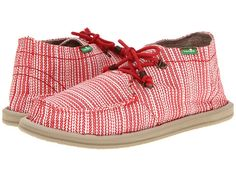 Sanuk Bedouin Summer Red Stripe - 6pm.com