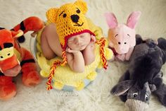 Winnie the Pooh Disney Newborn Photography