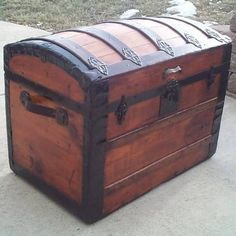 Refinished Wood Trunk