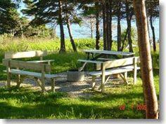 Oceanside cottage, Gros Morne Gros Morne, Newfoundland, Outdoor Furniture, Outdoor Decor, Bench, Cottage, Park, Home Decor, Homemade Home Decor