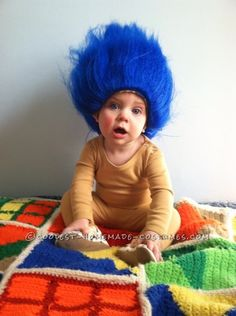 Two-Step Last Minute Halloween Troll Costume for a Baby Boy... This website is the Pinterest of costumes