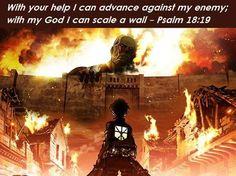 Attack On Titan, Faith and Fandom, Bible, God, Titan, Scout