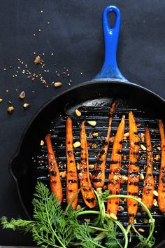 Grilled carrots with dukkah