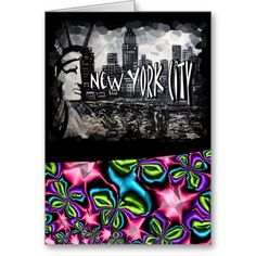 New York City Themed Greeting Cards Party Art Store All Original