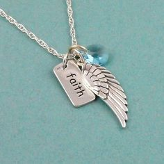 Faith Necklace, Angel Wing