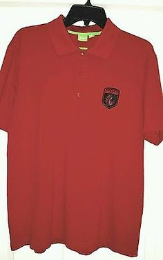 HUGO BOSS Men's Short Sleeve Polo Shirt sz XL Red TAVISTOCK CUP GOLF