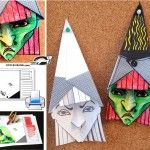 Halloween Special - Witch Face Papercraft For Kids - by Krokotak - A nice and easy-to-build Witch Face papercraft, that is perfect for Halloween decoration, by Krokotak, a Russian educative website. Holidays Halloween, Halloween Decorations, Halloween Activities For Kids, Children Activities, Diy Paper Christmas Tree, Halloween Goodie Bags, Fall Art Projects, Christmas Coloring Pages, Kids Crafts