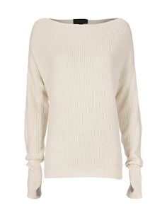 Exclusive for Intermix Oversized Off The Shoulder Sweater: Effortless ease of a cable knit sweater with an off the shoulder cut. Long sleeves. In ivory. Fabric: 40% wool/25% viscose/25% nylon/10% cashmere