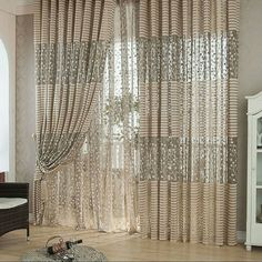 Fashion Leaf Tulle Door Window Curtain Drape Panel Sheer Scarf Valances v Rollos Gardinen Vorhänge Scarf Valance, Window Scarf, Curtain For Door Window, Window Drapes, Door Curtains, Window Panels, Kitchen Curtains, Shower Curtains, Balcony Window