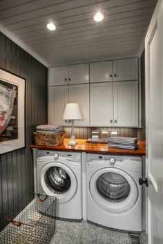 Elegant Laundry Room Design Decor Ideas - Page 16 of 36 Rustic Laundry Rooms, Farmhouse Laundry Room, Laundry Room Organization, Laundry Room Design, Bathroom Cost, Room Additions, Small Laundry, Laundry Area, Basement Remodeling