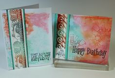 We all know that inspiration can come from any number of places. Today's batch of cards were inspired by three sources . . . Karen's cool...