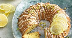 Olive oil, lemon and pistachio cake