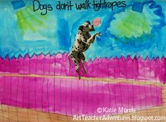 Adventures of an Art Teacher: grade Dogs don't make art First Year Teachers, New Teachers, Arts Ed, My Arts, Dry Brush Painting, 4th Grade Art, Art Friend, Therapy Tools, Art Lessons Elementary