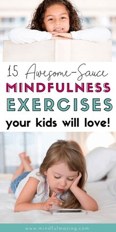 15 FREE mindfulness exercises for kids - Check out these 15 FREE mindfulness exercises for kids. These are easy and fun for the entire famil - Mindfulness For Kids, Mindfulness Activities, Mindful Parenting, Parenting Teens, Yoga For Kids, Exercise For Kids, Mindful Activities For Kids, Mindfulness Exercises, Mental Training