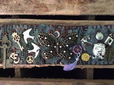 Butterfly textile bracelet.
