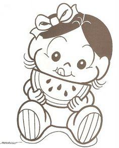 Para Colorir Desenhos da Turma da Mônica baby