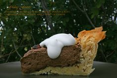 Chocolate Mousse Pie with Phyllo Dough Pie, Caramelized Pistachios, and a Hint of Coffee  4 Winter Recipes to Enjoy with Beer | Friday Feasts  http://2via.me/JravHpi111