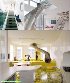 are you serious!!!!! i have always dreamed of a slide like this in my house since i was a kid