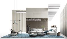 New 2020 advertising campaign: Object to project - Giorgetti Living Room Elevation, Cool Kids Rooms, Color Plan, Dining Room Design, White Wood, Soft Furnishings, Living Area, Lounge, Layout