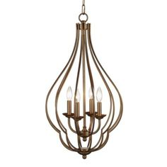Eden Chandelier from Z Gallerie -- Distinctive in both its contemporary design style and teardrop shape our Eden Chandelier provides a classic silhouette perfect for any decor. $300