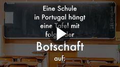 Erziehung ist ein heikles Thema, bei dem man Eltern nur ungern reinreden möchte. Aber eine Schule in Portugal hat erkannt, dass einige Worte doch noch gesagt werden müssen...