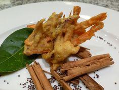 Pakora di verdure e tofu (verdure pastellate con farina di ceci e spezie)