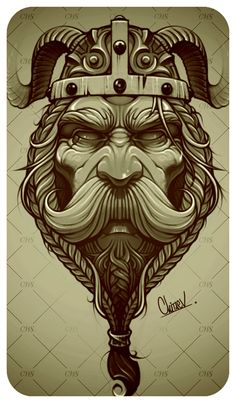 Eugene Chitaev on Behance Norse Tattoo, Celtic Tattoos, Vikings, Tattoo Homme, Viking Drawings, Viking Warrior Tattoos, Tattoo Drawings, Art Drawings, Viking Designs