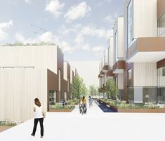 Sustainable Town Houses / C.F.Møller Architects,© C.F. Møller Architects