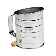 Oneida Kitchenware Good Cook Tin Sifter With Hand Crank (1 Pack) 7.84