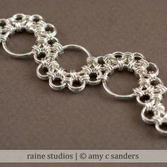 Shenandoah Chainmaille Bracelet Handmade Sterling by rainestudios on Etsy.  Love this pattern!