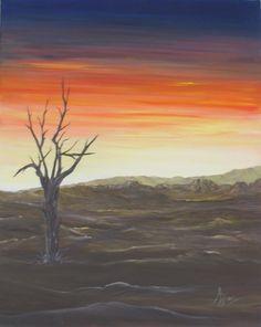 Ref.3.04 - Amanhecer na Namíbia - Acrílico sobre tela - 40x50
