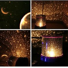 Starry Night Sky Projector Colorful LED Night Light (Random Color,Powered by 3 AA Battery) – USD $ 7.99