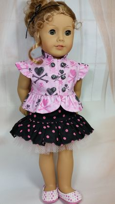 Heart Outfit - Doll Clothes by Shirley - Shirley Fomby - SOLD
