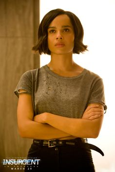 Forgiveness is an attribute of strength. Zoe Kravitz as Christina in The Divergent Series:   Insurgent.