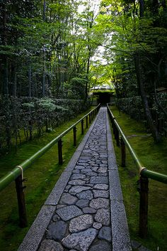 Early summer in Daitoku-ji temple, Koto-in Zen Temple, Kyoto, Japan -llove the stone work Beautiful World, Beautiful Places, Japon Tokyo, Garden Paths, Japan Travel, Pathways, Garden Design, Scenery, Places To Visit