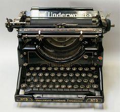 a 1930's Underwood typewriter
