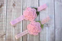 Camellia Headband/Felt Flower Headband/Baby Headband by Lillianas, $6.50
