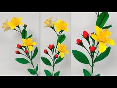 Paper Flower St. Johns Wort \ Hypercium (flower # 178) - YouTube