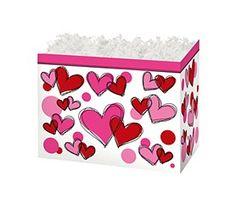 "Small Box Scribbled Hearts 6¾"" x 4"" x 5""-49302"
