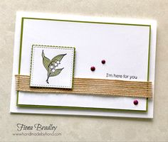 I'm Here For You - In Season - Itty Bitty Greetings - Stampin' Up! - Fiona Bradley